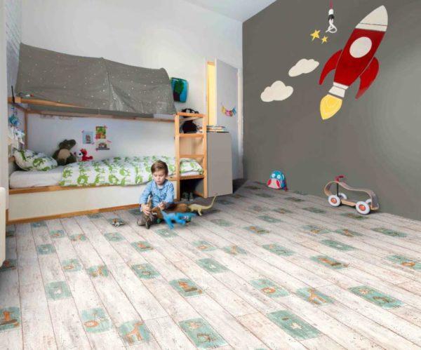 Линолеум Flash Toys в интерьере